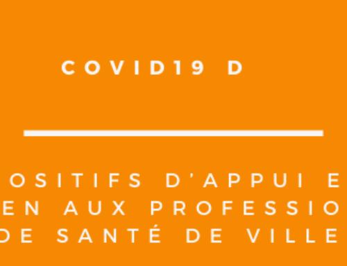 DISPOSITIFS D'APPUI ET DE SOUTIEN AUX PROFESSIONNELS DE SANTÉ DE VILLE