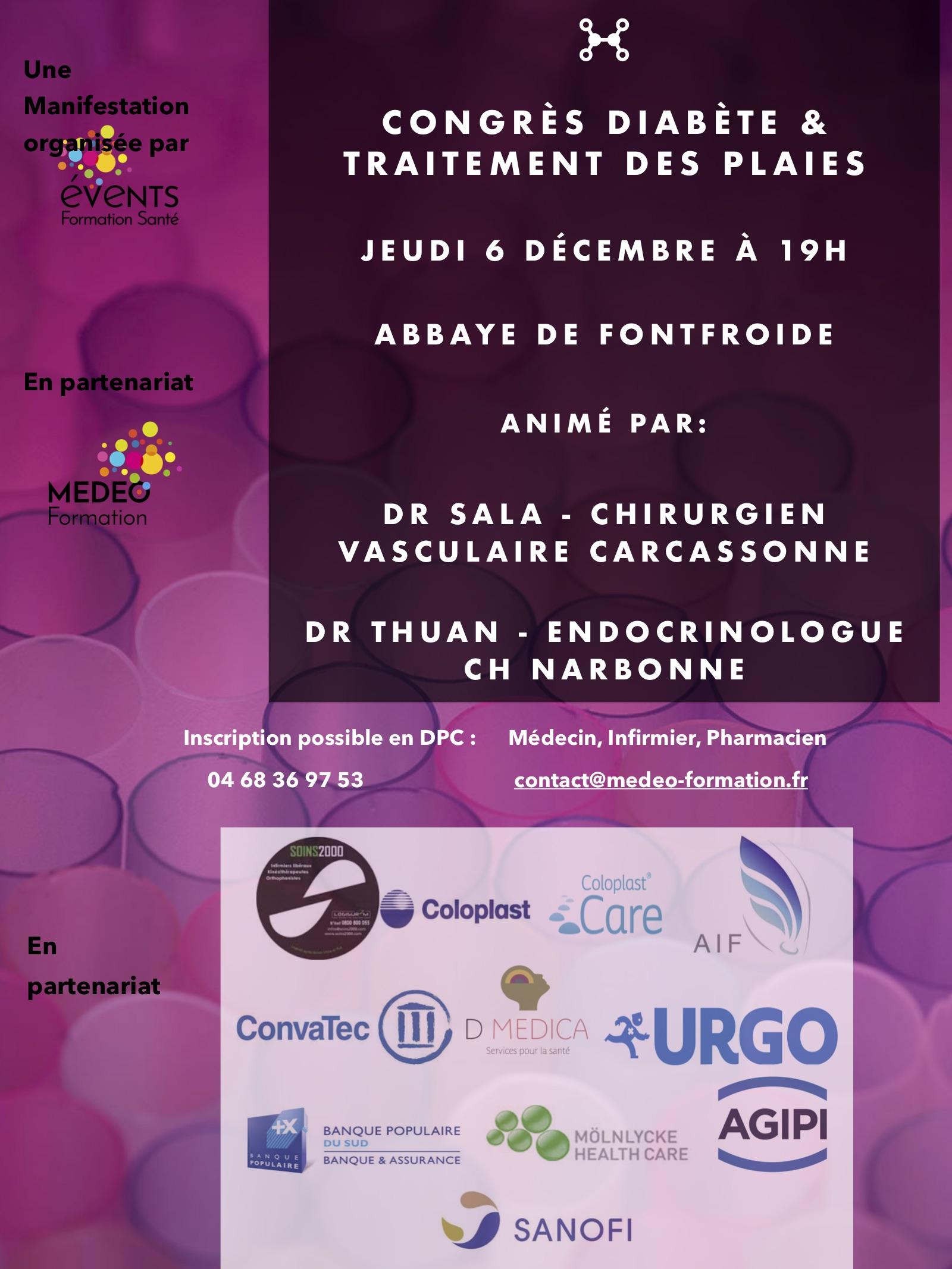 Décembre 2018 – Congrès Plaies et Cicatrisation Abbaye de FontFroide (11)