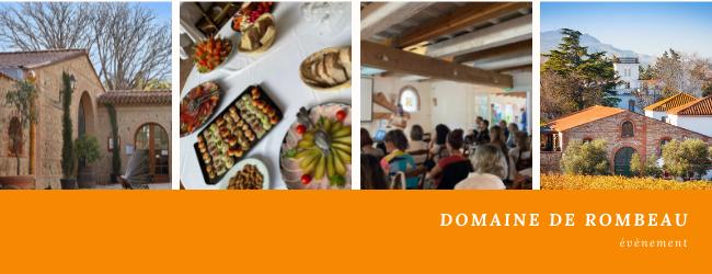 Conférences et ateliers au Domaine de Rombeau à Rivesaltes.